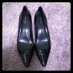 Patent Leather kitten heel, gently used